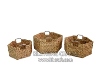Water Hyacinth Basket WF5051-3NAT