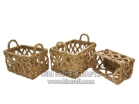 Water hyacinth basket WF5176-3NAT