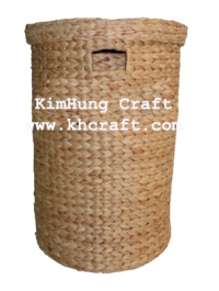 Water-Hyacinth-Laundry Hamper-WN0004-1NAT