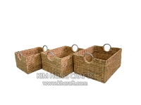 Water Hyacinth Basket WF5050-3NAT