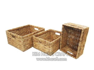 Water Hyacinth Basket WF5023-3NAT