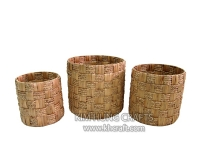 Water Hyacinth Basket WF5044-3NAT