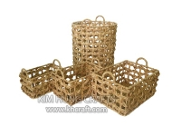 Water hyacinth basket WF5156-4NAT