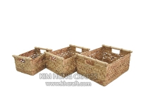 Water Hyacinth Basket WF5061-3NAT