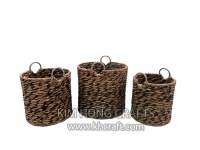 Water hyacinth basket WF5197-3MIX