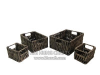 Water Hyacinth Basket WF5043-4WBL