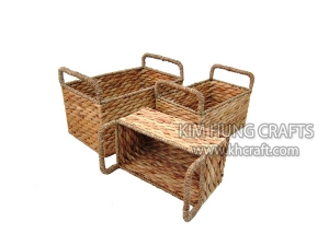 Water Hyacinth Basket WF5021-3NAT