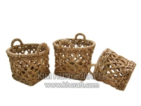 Water hyacinth basket WF5177-3NAT