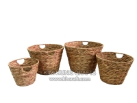 Water Hyacinth Basket WF5045-4NAT