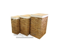 Water Hyacinth Laundry Hamper WF0001-3NAT