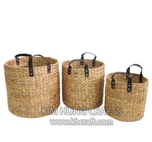 Water Hyacinth No Frame Basket WN5019-3NAT