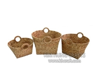 Water Hyacinth Basket WF5046-3NAT