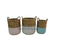 Water hyacinth basket WF5166-3MIX