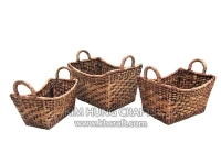 Water Hyacinth Basket WF5065-3WBR