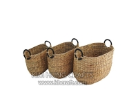 Water hyacinth basket WF5172-3NAT