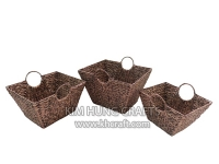 Water hyacinth basket WF5188-3WBR