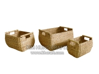 Water hyacinth basket WF5132-3NAT