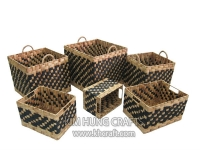 Water Hyacinth Basket WF5076-6MIX