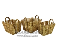 Water hyacinth basket WF5211-3NAT