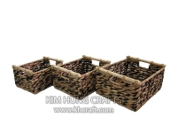Water Hyacinth Basket WF5060-3MIX