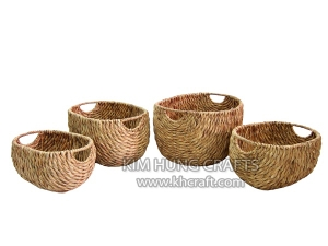 Water Hyacinth Basket WF5047-4NAT