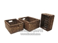 Water Hyacinth Basket WF5023-3WBR