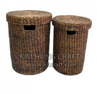 Water Hyacinth Laundry Hamper WN0001-2WBR