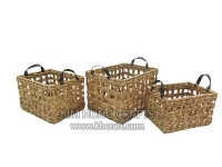 Water hyacinth basket WF5184-3NAT