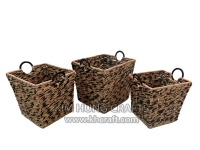 Water hyacinth basket WF5195-3MIX