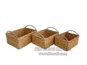 Water Hyacinth Basket WF5053-3NAT