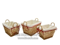 Water hyacinth basket WF5180-3NAT