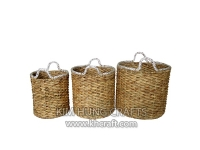 Water hyacinth basket WF5162-3NAT