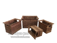 Water Hyacinth Basket WF5070-4WBR