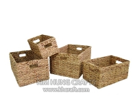 Water Hyacinth Basket WF5058-4NAT