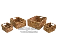 Water Hyacinth Basket WF5042-4NAT